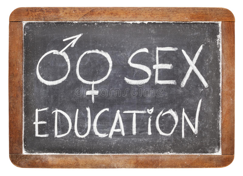 Educación sexual en la pizarra fotos de archivo libres de regalías