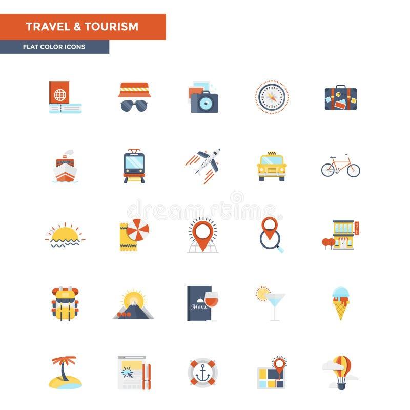 Educación y aprendizaje planos de los iconos del color stock de ilustración