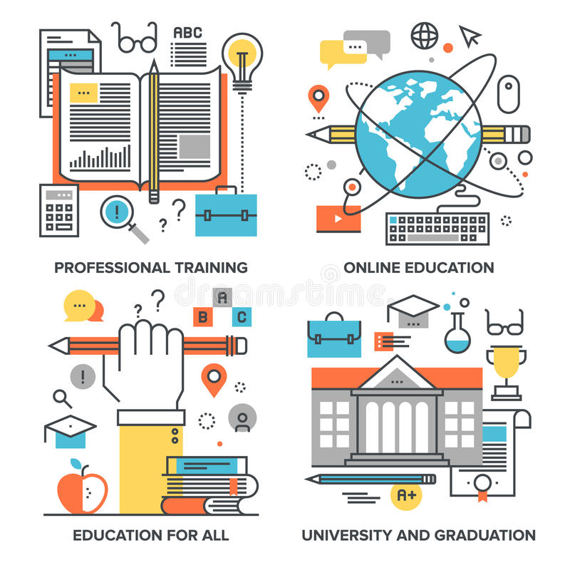 Educación y conocimiento libre illustration