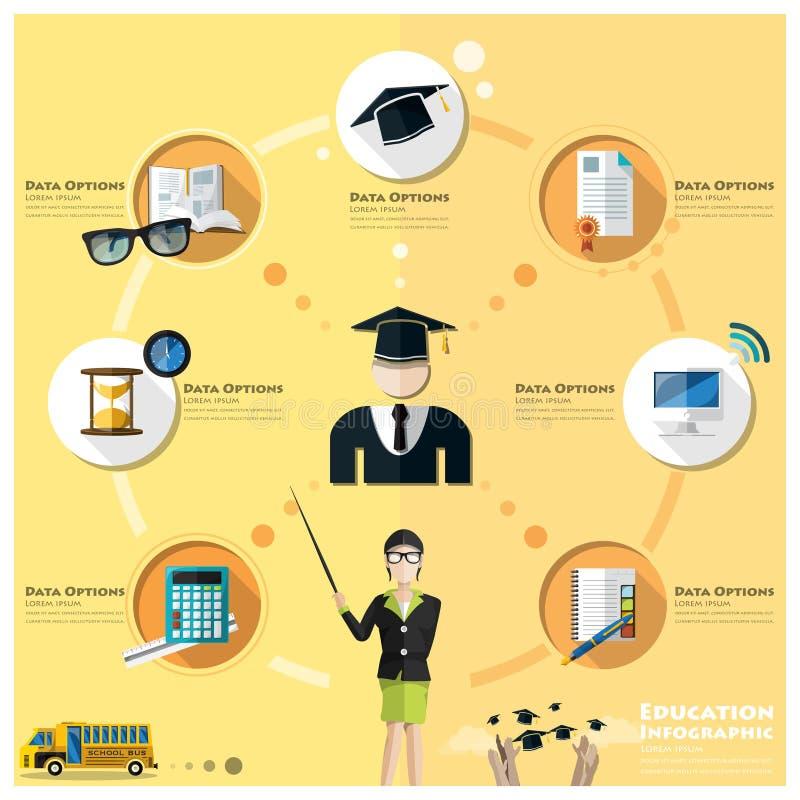 Educación y graduación Infographic ilustración del vector
