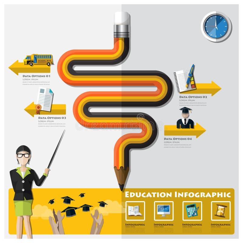 Educación y graduación que aprenden Infographic stock de ilustración