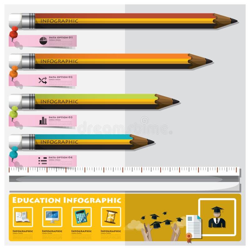 Educación y graduación que aprenden Infographic ilustración del vector