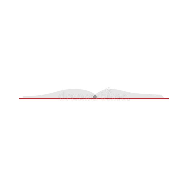 Educaci?n abierta de la lectura de la biblioteca del vector del libro Blanco aislado icono de la literatura libre illustration