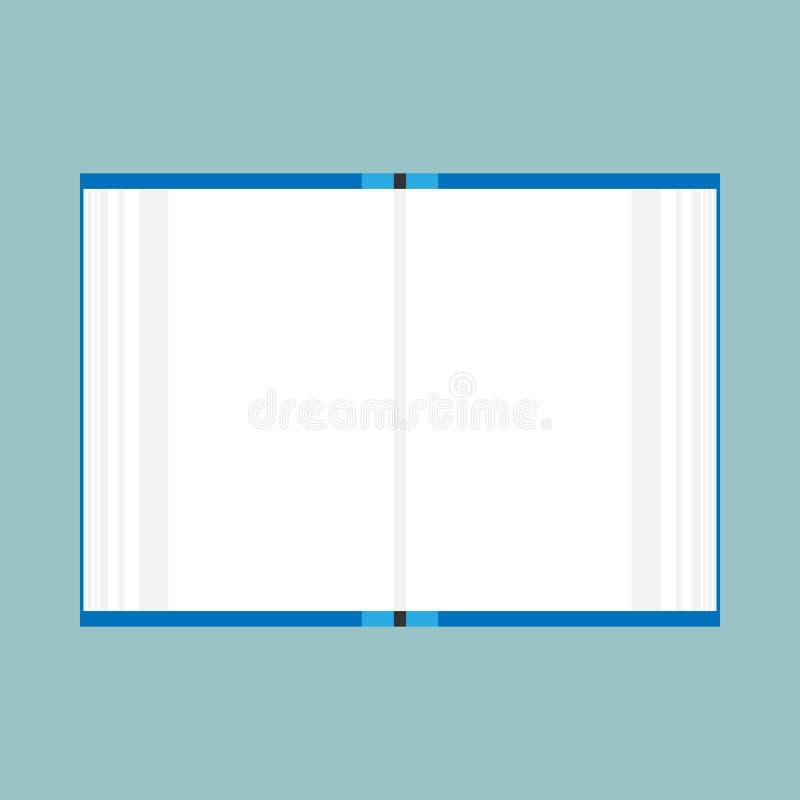 Educaci?n abierta de la lectura de la biblioteca del vector del libro Opinión superior blanca aislada icono de la literatura libre illustration