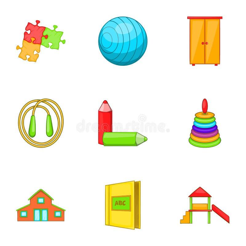 Download Educando Os ícones Ajustados, Estilo Dos Desenhos Animados Ilustração do Vetor - Ilustração de imagem, moderno: 80101273