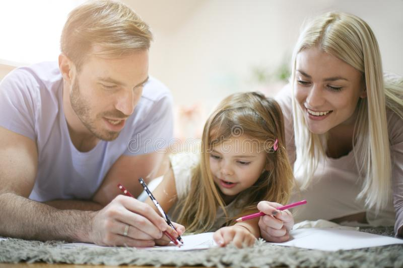 Educate at home. Learning together. royalty free stock images