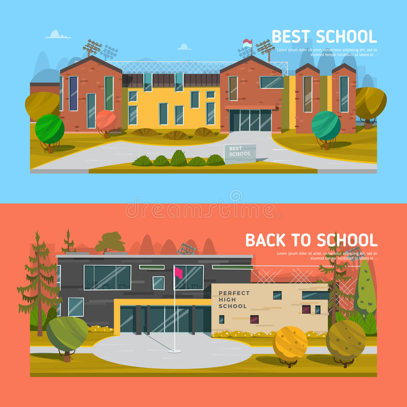 Educate theme vector collection royalty free illustration
