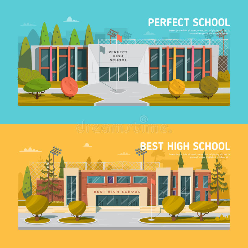 Educate theme vector collection vector illustration