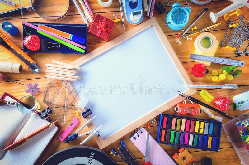 Education, Back to School concept with copy space stock photography