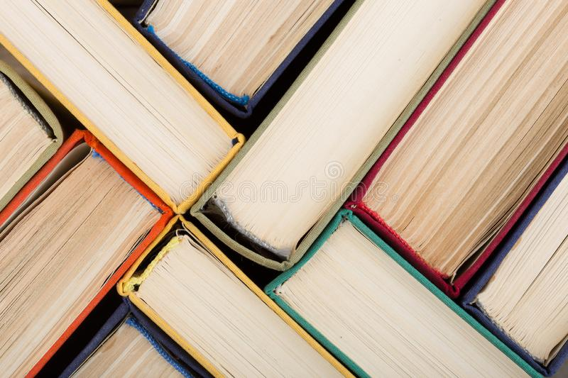 Education background - group of books close up stock photos