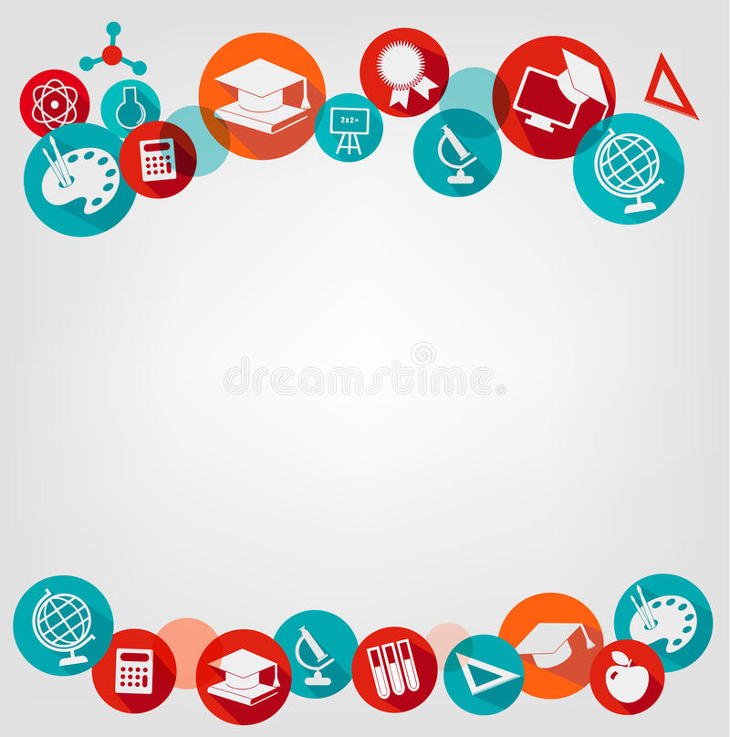 Education Background With Icons. Stock Vector ...