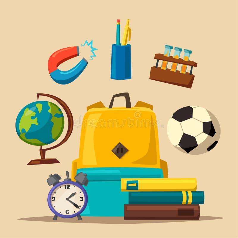 Education banner. Cartoon vector illustration vector illustration