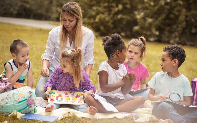 Education is beautiful with the fun. royalty free stock photo