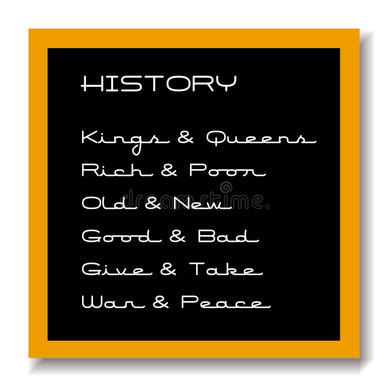 Download Education Black Board History Stock Illustration - Image: 2765040
