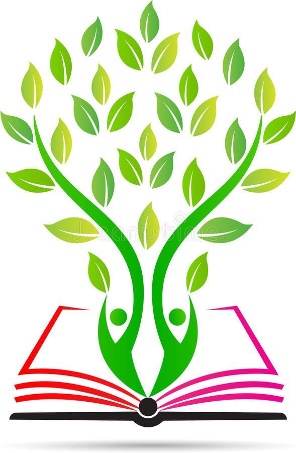 Education book tree. A vector drawing represents education book people tree design stock illustration