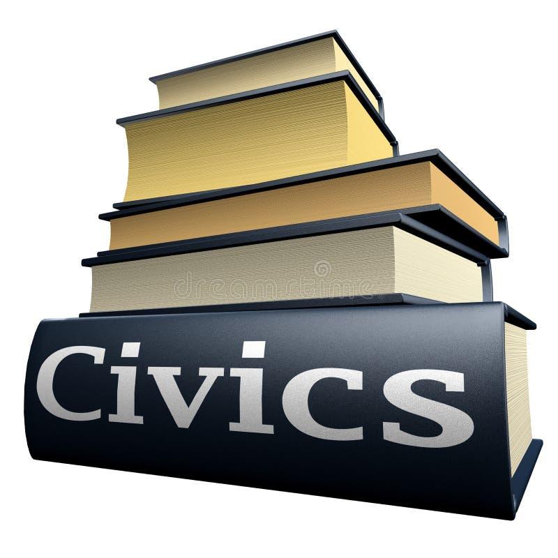 Education books - civics royalty free stock image