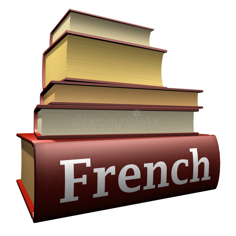Education books - french royalty free illustration