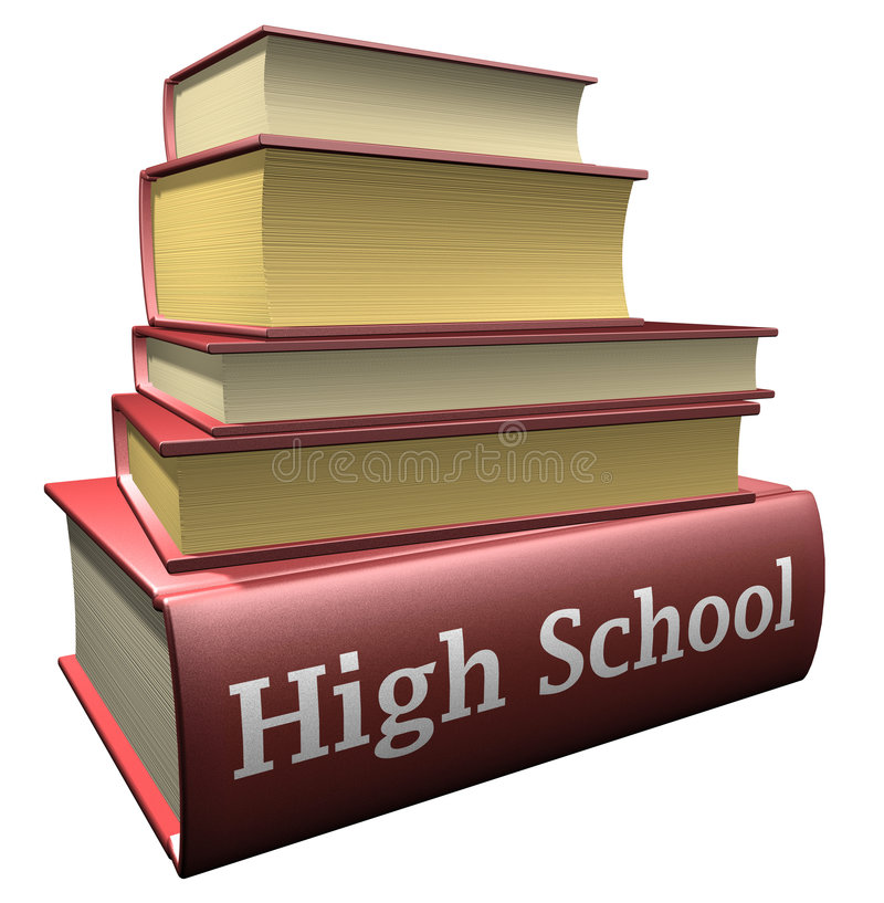 Education books - high school stock illustration