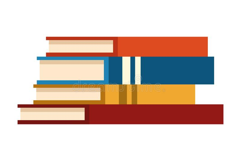Education books piled up. Vector illustration .graphic design stock illustration
