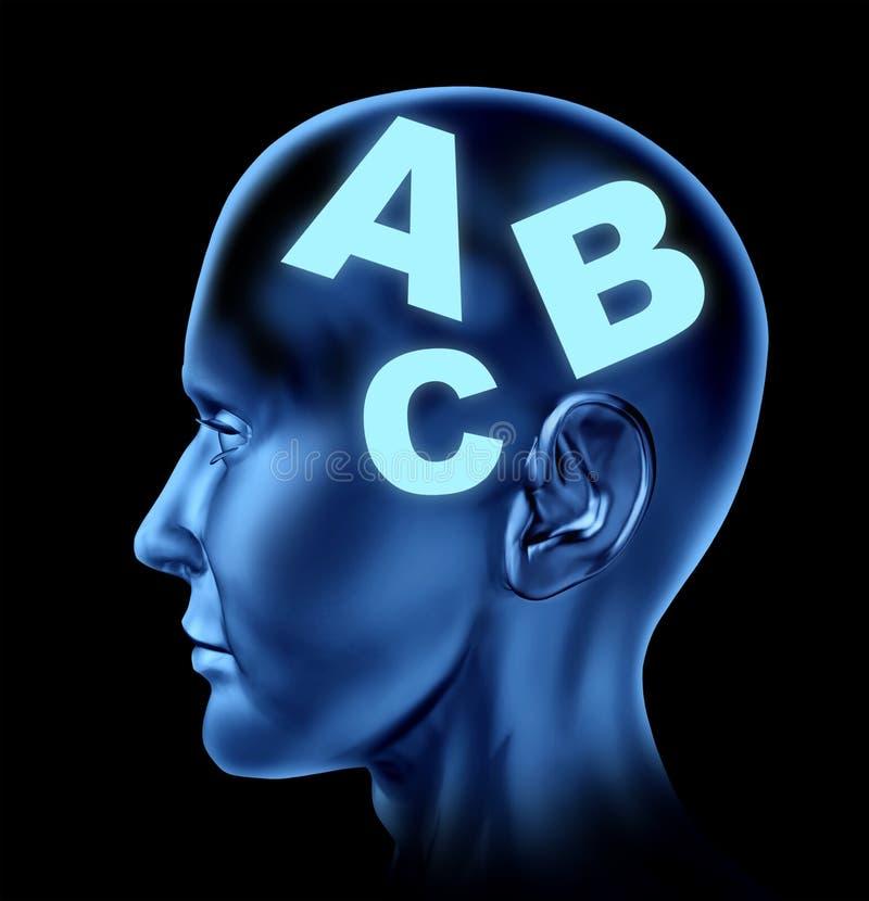 Education brain head vector illustration