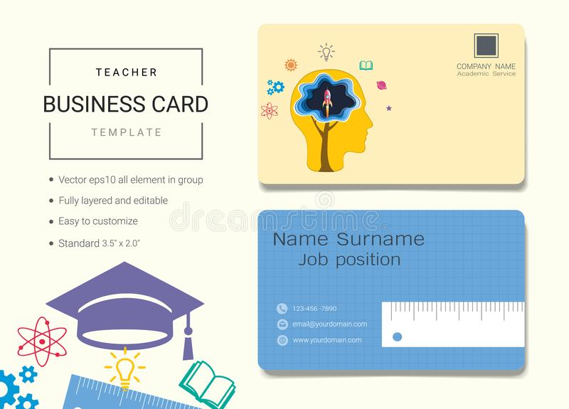 Education business card or name card template stock vector download education business card or name card template stock vector illustration of decoration accmission Image collections