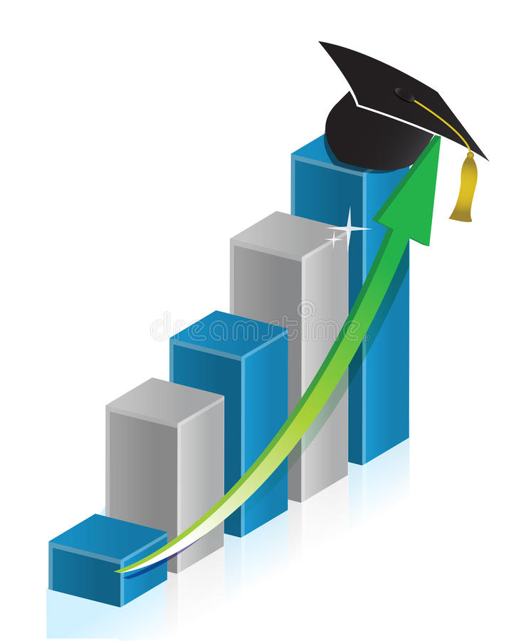 Download Education business graph stock illustration. Image of profit - 28982512