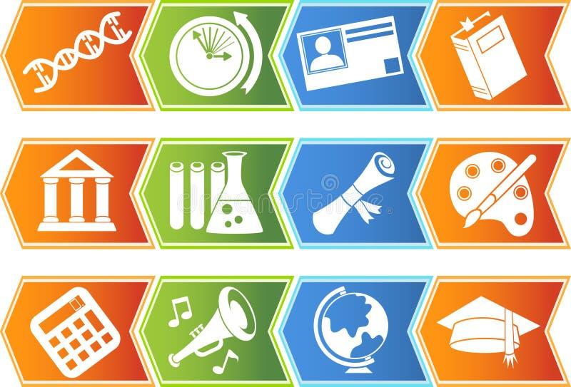 Download Education Button Set - Chevron Stock Vector - Illustration of human, biology: 9917993