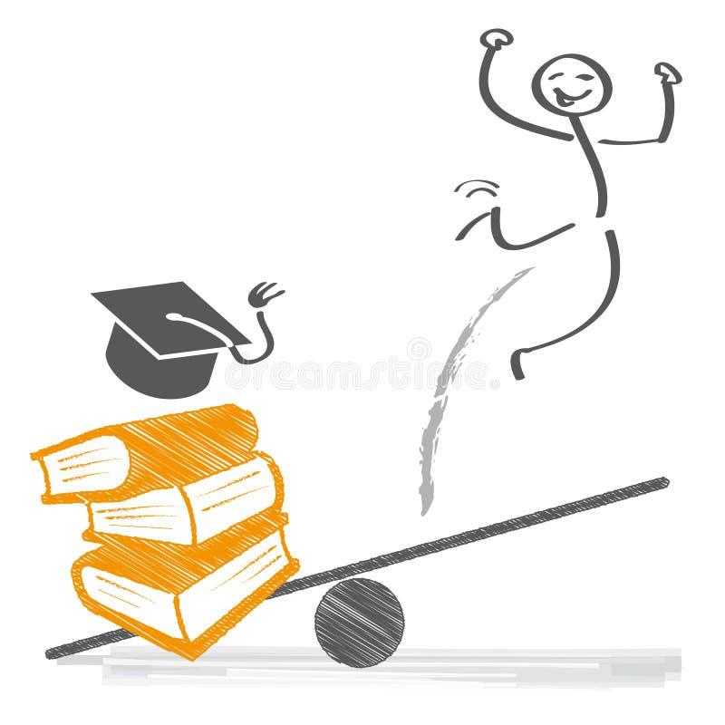 Education and career. Illustration royalty free illustration