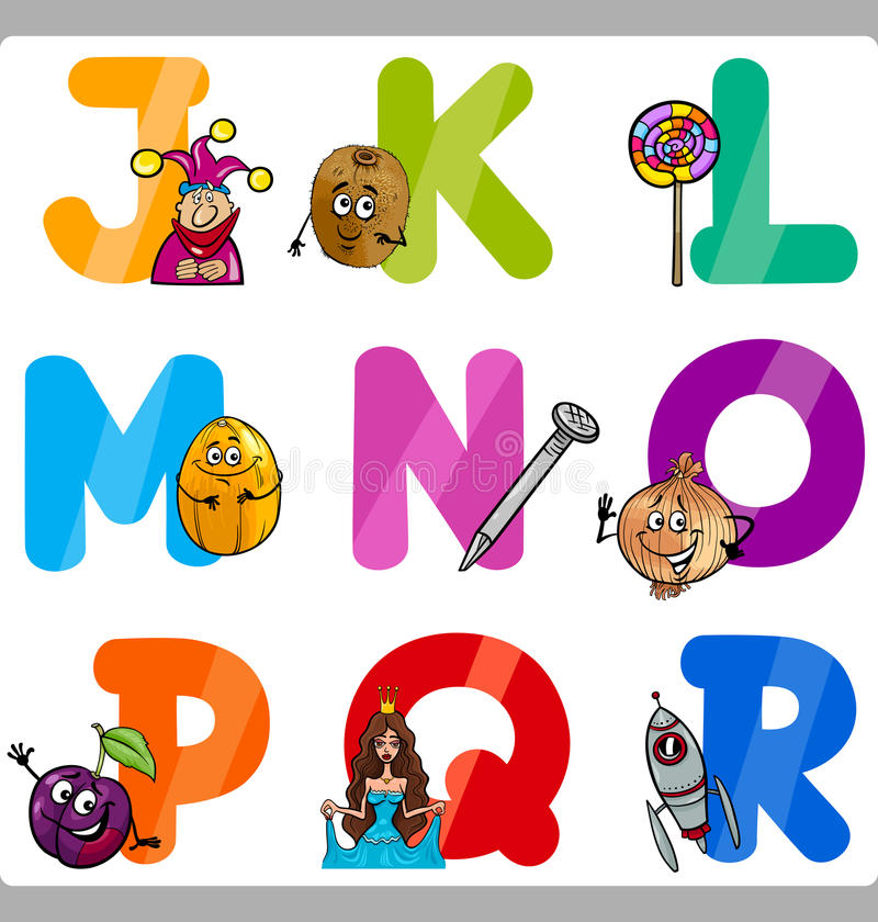 Free Education Cartoon Alphabet Letters For Kids Royalty Free Stock Images - 32964349