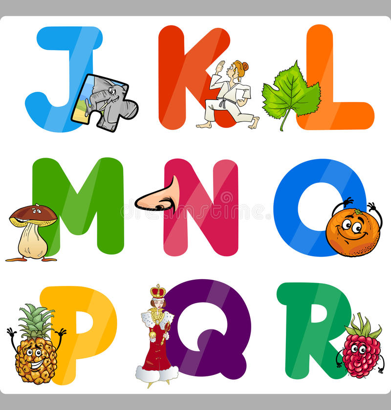Free Education Cartoon Alphabet Letters For Kids Royalty Free Stock Photo - 33014395