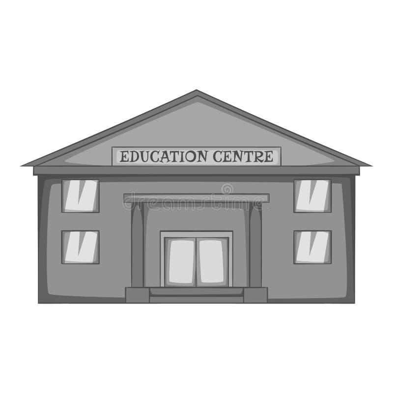 Education centre icon, monochrome style. Education centre icon. monochrome illustration of education centre icon for web stock illustration