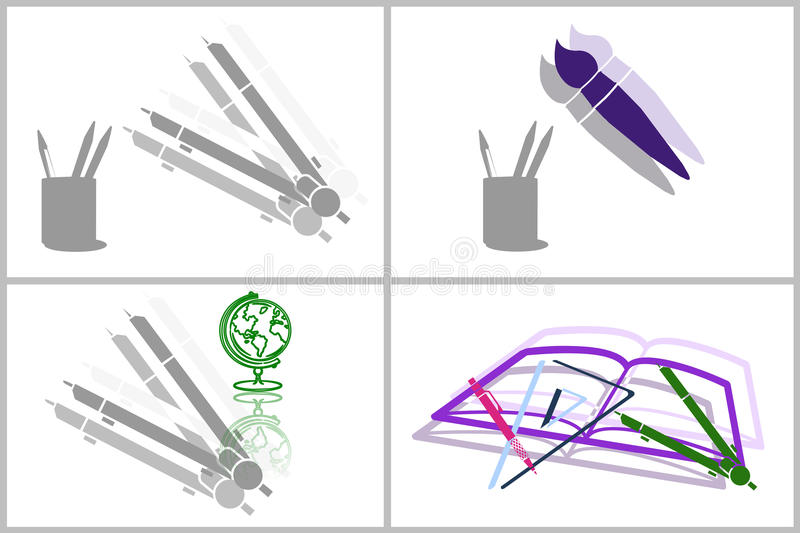 Download Education collage stock illustration. Illustration of education - 25332527