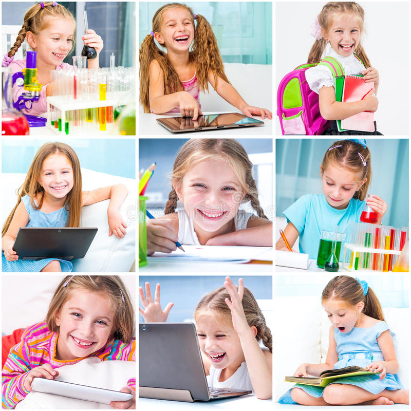 Education collage royalty free stock photography
