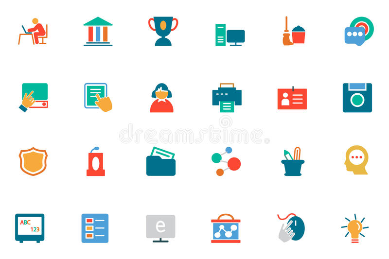 Education Colored Vector Icons 4. Celebrate the great gift of education with this Colored Education Vector Icons Pack! Use these icons in your education stock illustration