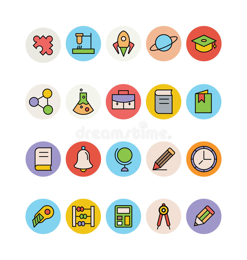 Education Colored Vector Icons 15 royalty free illustration