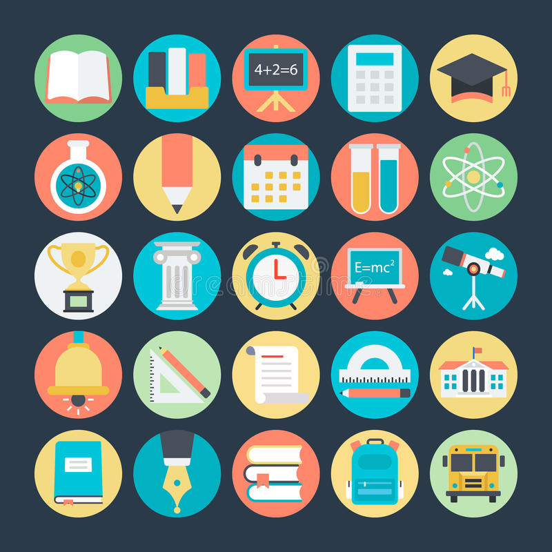 Education Colored Vector Icons 1 royalty free illustration