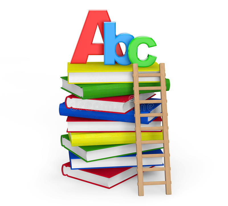 Education Concept. Books with ABC sign stock photo