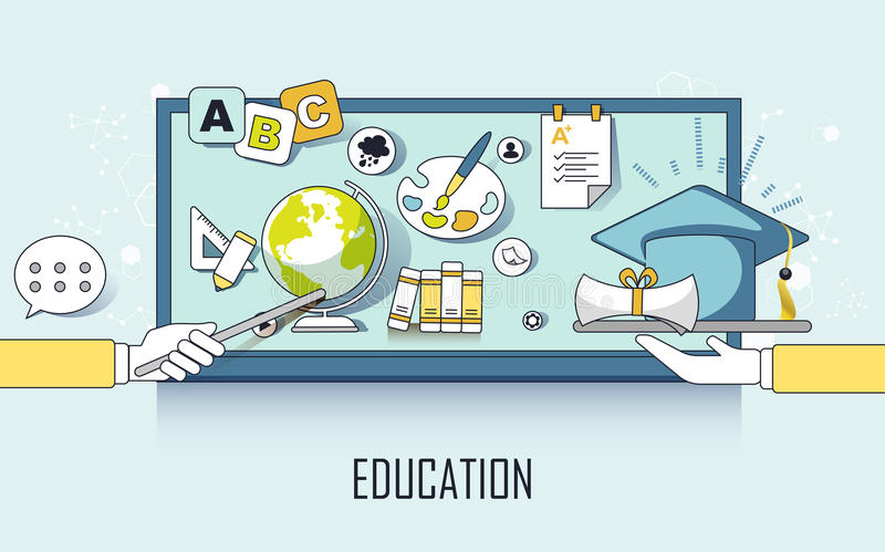 Education concept stock illustration