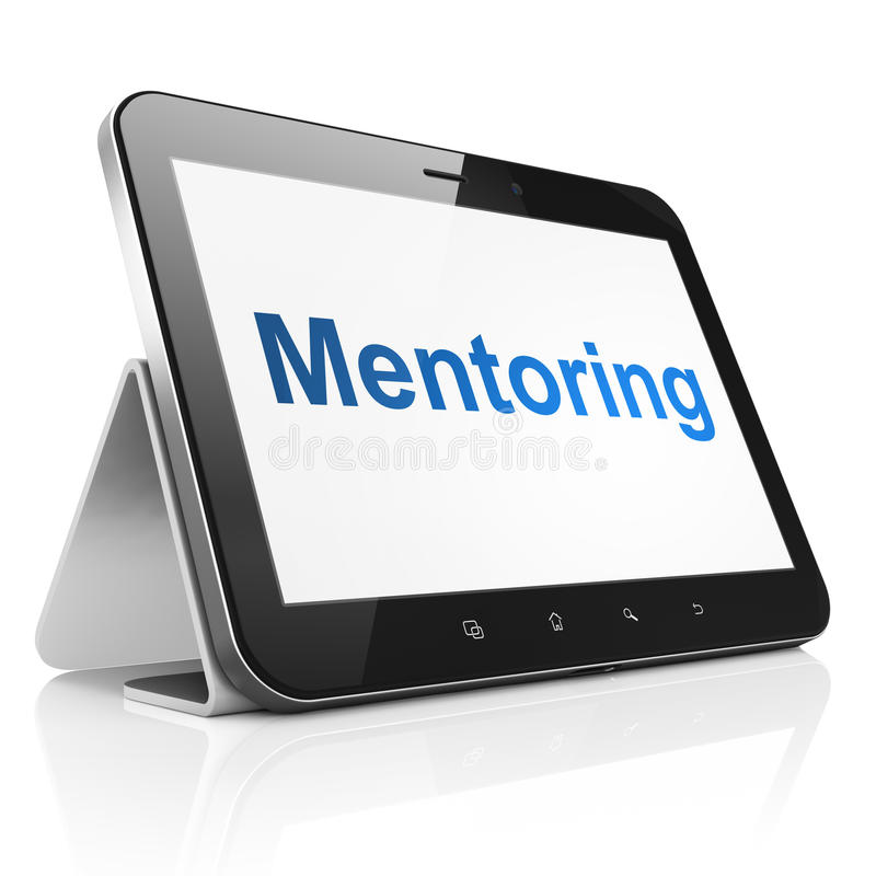 Download Education Concept: Mentoring On Tablet Pc Computer Stock Image - Image of blue, learn: 41436279