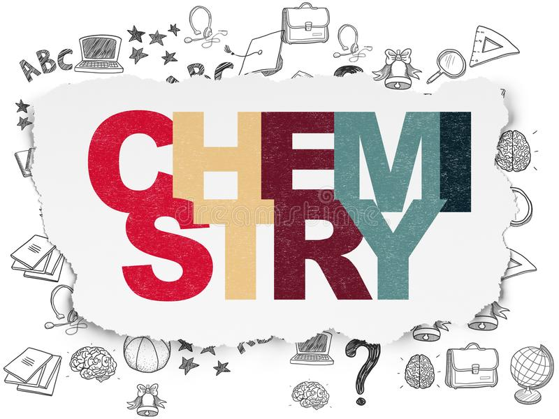 Education concept: Chemistry on Torn Paper background royalty free stock images