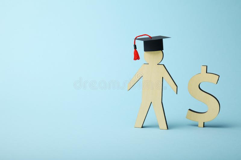 Education cost in college and school. Student fund royalty free stock photos