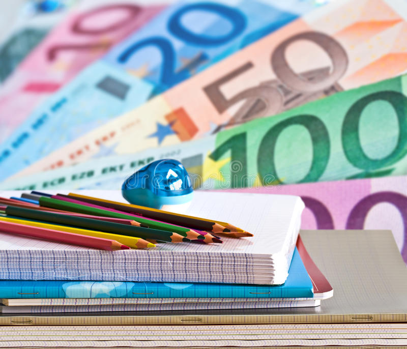 Education cost and fee stock photography