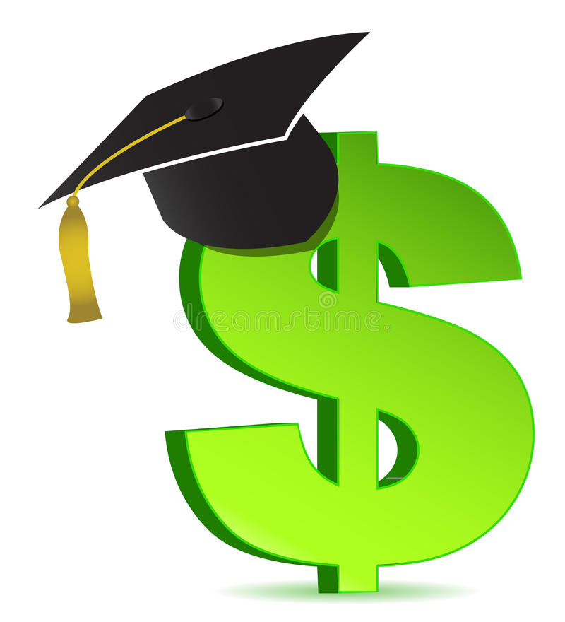 Education And Dollar Sign Stock Photos
