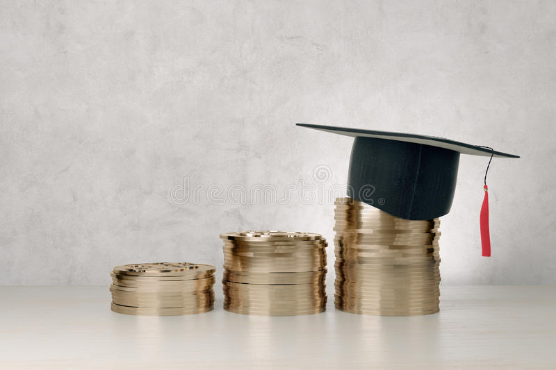 Education and financial growth stock images
