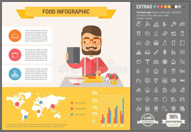 Education flat design Infographic Template. Education infographic template and elements. The template includes illustrations of hipster men and huge awesome set stock illustration