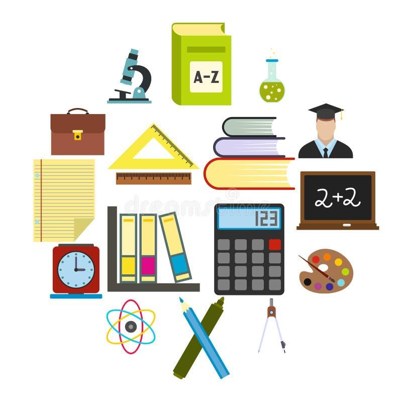 Education flat icons royalty free illustration