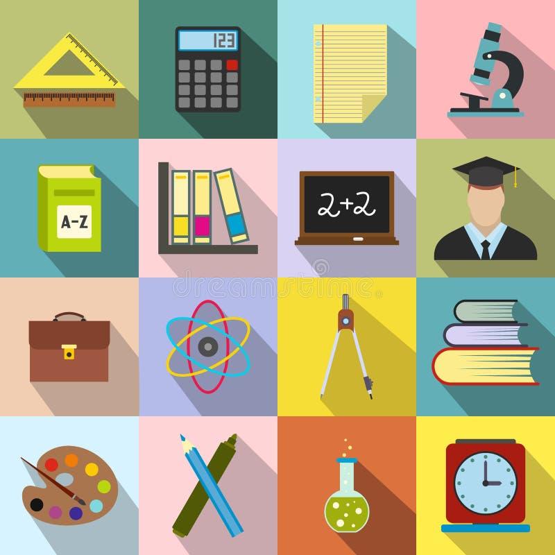Education flat icons stock illustration