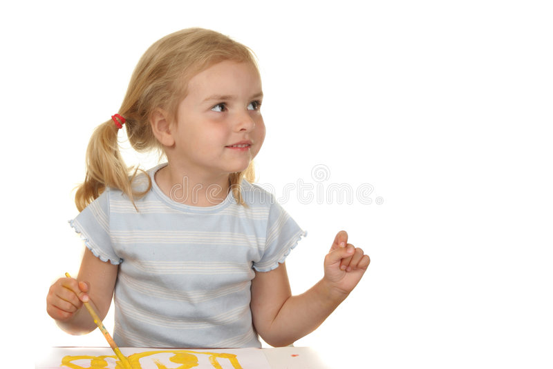 Education is a game. Kid - activity in preschool - over white stock photos