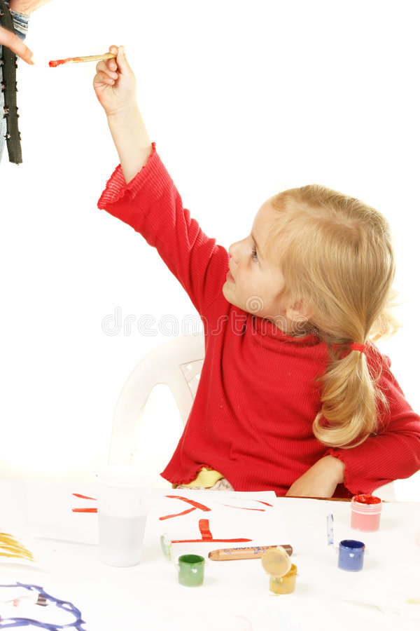 Education is a game. Kid - activity in preschool - over white stock photography