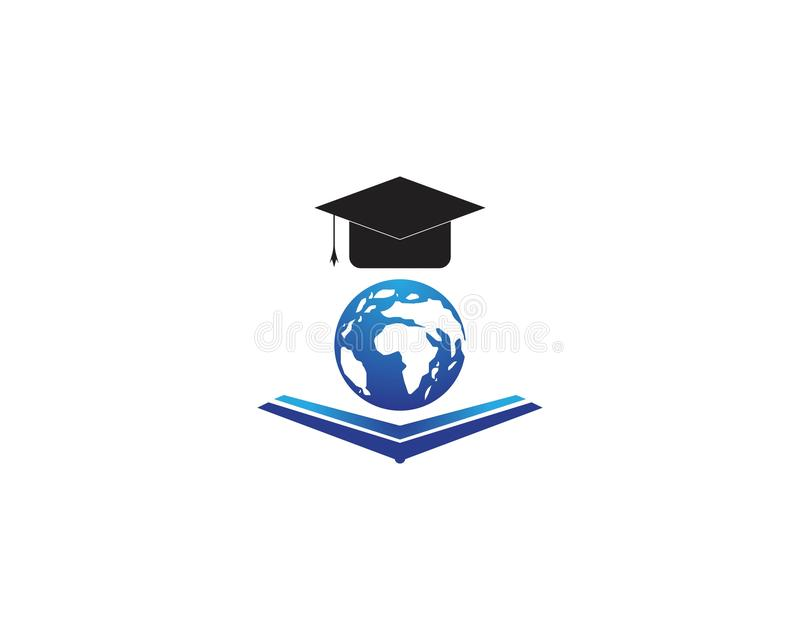 Education globe icon logo vector template stock illustration